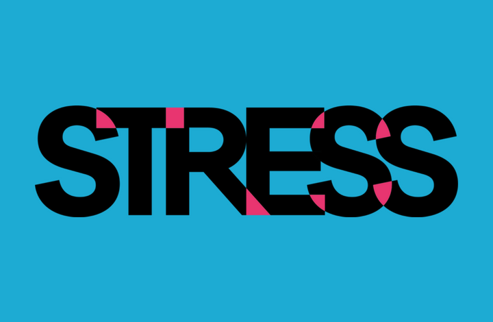 stress wording tile