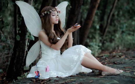 woman wearing fairy costume 1545590
