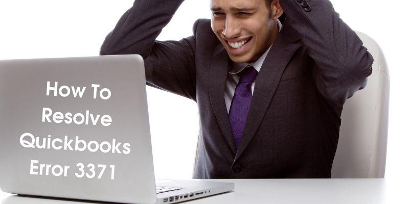 Quickboooks error 3371