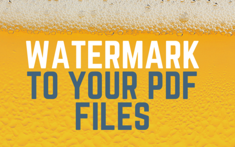 Watermark To Your PDF Files